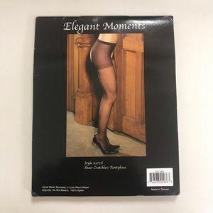 2/$20 Elegant Moments Sheer Crotchless Pantyhose